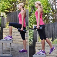 You can use almost anything for your step and weights in this simple but effective move.
