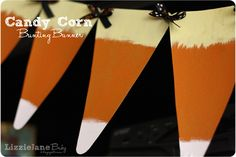 LizzieJane Baby: Candy Corn Bunting Banner