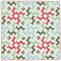 A fresh quilt for the holidays: Square Burst quilt by Victoria Eapen