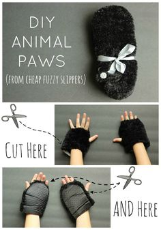 diy costumes, kids diy, furri anim, costume ideas, diy halloween costumes, animal costume, kids animal halloween costumes, anim paw, halloween diy