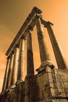Rome, Italy  Temple of Saturn, Roman Forum     #Rome