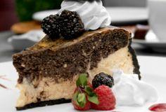 Dark Chocolate Berry Layer Cheesecake