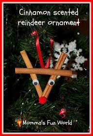 Cinnamon stick reindeer ornament