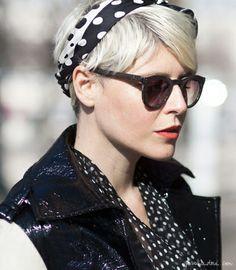 short hair, polka dots, nalin lahssan, style, headband, elisa nalin