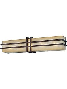 Art Deco Sconce. Underscore 5 Light Bath Sconce In Cimarron Bronze