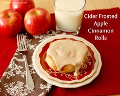 Apple Cinnamon Rolls w/Cider Cream Cheese Frosting {A Kitchen Addiction}