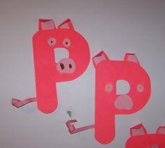 Alphabet Letter P is for Pig
