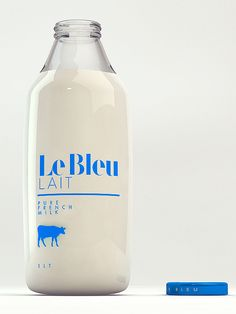 Le Bleu Lait by Isabela Rodrigues, via #Behance #Packaging #Identity #Branding