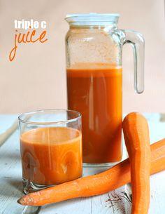 Triple C Juice --- carrots, celery, & cantaloupe.