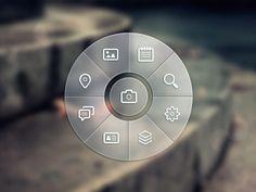 Love circle  menus -Dribbble - Circle Menu   PSD by Andrey Maxim