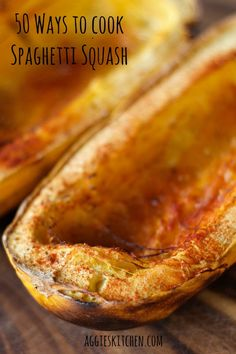 50 Ways To Cook Spaghetti Squash from Aggie's Kitchen (and thanks for including some of my recipes!) #SpaghettiSquash #FallFavorites