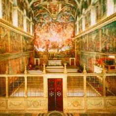 """Micheal Angelo paintings """"Sisten Chapel"""" Reason is god given - M.Angelo"""