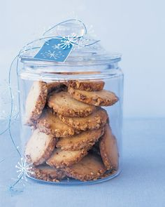 Cream-Cheese Walnut Cookies -- the slice-and-bake dough can be shaped into logs and frozen for up to two weeks