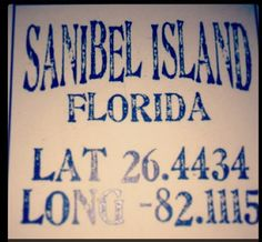 Sanibel Lat/Long.