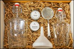 For the DIY Mixologist: The HomeMade Gin Kit. Pair this with a bottle of vodka (needed to make the gin) and some good tonic.