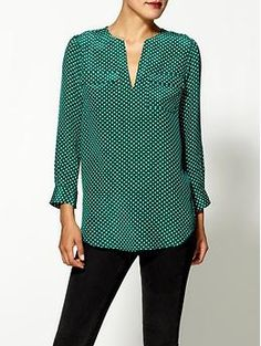 Joie Marlo Small Dot Silk Top, Piperlime