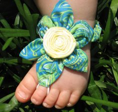 Turquoise Baby Barefoot Sandals by MyLittleLillyPad on Etsy, $12.95
