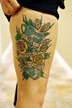 danielle hampton's tea for two tattoo