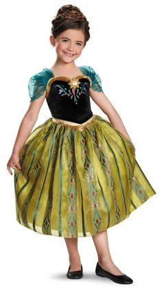 Frozen - Girl Anna Coronation Deluxe Dress Costume