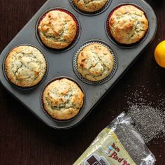 Add some sunshine to your morning with Healthier Meyer Lemon Chia Seed Muffins