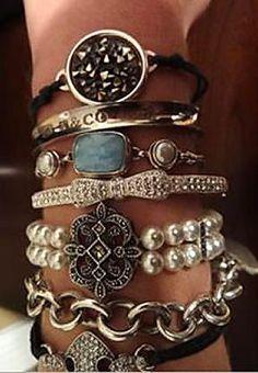 Lovely Layered Bracelets <3