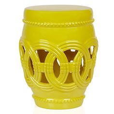 Talk about a pop of color! This spring, Z Gallerie's popular Palmer Stool in available in a vibrant Lemon. $139.95