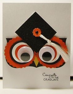 Owl Graduation Card- Scrapbook.com