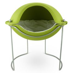 Hepper Pod Bed -  The raised platform caters to the cuties that want to be above it all while the closed sides provide all the protection they need. Sitting in a durable steel frame, the pod is constructed from flexible molded foam with fabric laminated on both sides. The interior has Sherpa fleece and microfiber that's reversible so it has an off-the-charts cuddle factor.