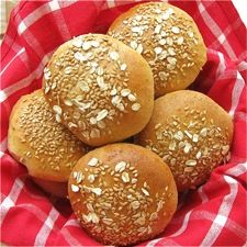 Wheat-Oat-Flax Buns – soft, tender buns featuring three different grains.