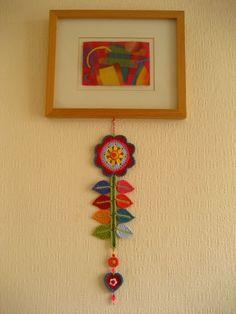 flowered crochet charm