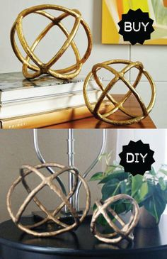 Buy or DIY: West Elm-Inspired Gold Sculptural Spheres   Apartment Therapy