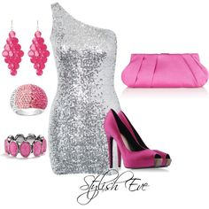 Silver & Purple Night out Outfit !