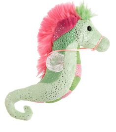 Seahorse plushies -- these are small, sparkly, and wonderfully soft. We got ours at Barnes and Noble, but they're not for sale on their website. - $8