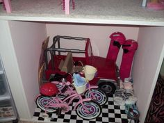 Organize Your American Girl Stuff Day 3 – Dollhouse, Doll Rooms, and Furniture american girl
