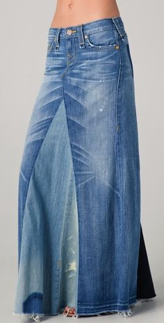 Im feeling the need to take apart some old jeans and making a maxi!