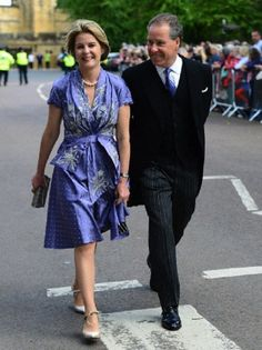 Lady Serena,Viscountess Linley and David Armstrong-Jones, Viscount Linley attends the Wedding of Lady Melissa Percy at St. Michael's Church, Baliffgate, Alnwick, Northumberland, UK, on 22 June 2013