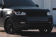 Matt Black Range Rover 2013 http://www.turrifftyres.co.uk