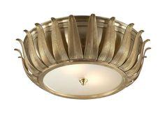 Alexa Hampton Audrey Flush Ceiliing Light natur brass, deco light, lighting, flush mount, mount ceil, ceil fixtur, ceilings, audrey flush, ceili light