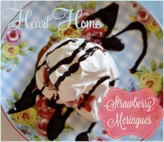 Easy Strawberry Meringues...a light summer dessert! #GlutenFree
