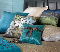 Pillows ... Love the color combination
