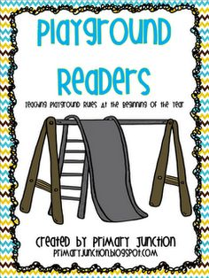FREE Playground Rules Fluency Sheet and Emerging Reader - Perfect for going over rules at the beginning of the school year!