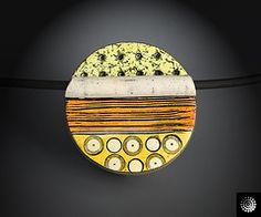 Aquarell Pendant by Bettina Welker, polymer clay.
