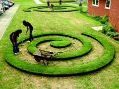 everedg proedg, landscap, lawns, lawn edg, lawn art, steel lawn, spiral, everedg lawn, garden
