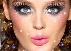 Glitter Eye Makeup, long eyelashes