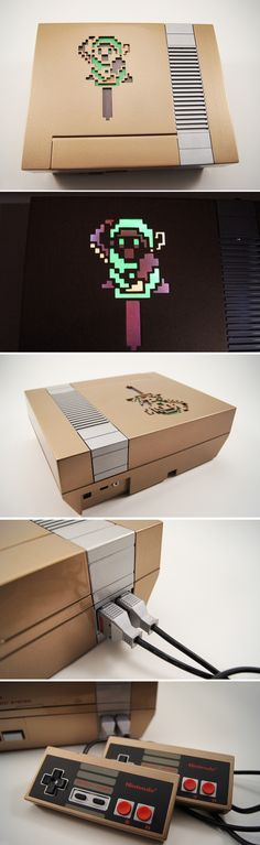Zelda Custom NES Console and Controllers