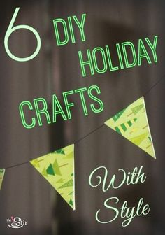 There's still time left to DIY decorate! 6 Shockingly Cheap & Stylish DIY Holiday Crafts (PHOTOS) http://thestir.cafemom.com/home_garden/165181/6_shockingly_cheap_stylish_diy?utm_medium=sm&utm_source=pinterest&utm_content=thestir