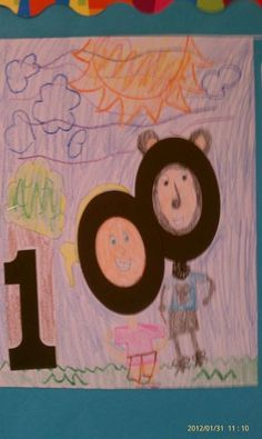 """Our 100 Day Celebration Activity! """"If I had 100 days to do whatever I wanted, I would..."""" Had to illustrate their writing with a picture using the numbers """"1, 0, & 0"""""""
