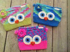 Owl purses w/variegated yarns