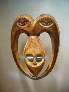 Ram Mask (Bata)  Republic of Congo or Gabon