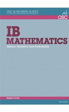 A practical student revision guide that specifically covers the HL Math topic that includes worked examples, questions and self-tests. ISBN: 9781907374593